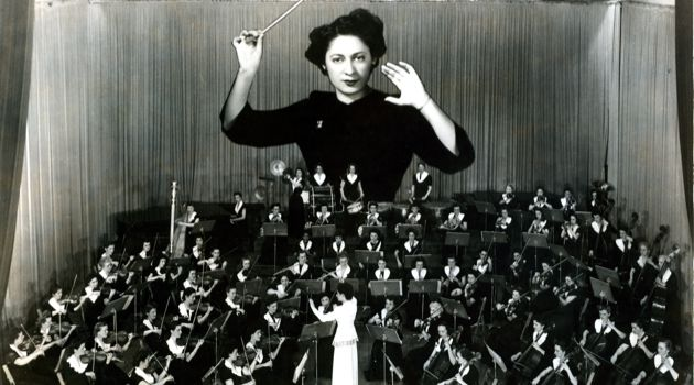 1947: Ethel Stark, featured here in a publicity image, was the founder of the Montreal Women?s Symphony Orchestra. The MWSO was the first Canadian group to perform at Carnegie Hall and one of its clarinetists, Violet Grant States, was the first black female musician to play the prestigious venue.