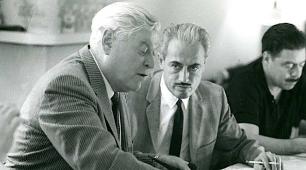 Labor Day: Miller with Steelworkers' president David McDonald.