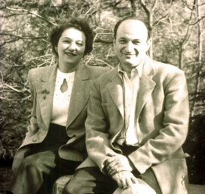 The novelist and the novelist?s wife: Edith and Milton Steinberg were writing part- ners, but certainly not models for Gomer and Hosea.