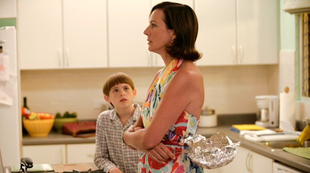 Stove Top Discussions: Trish (Allison Janney) and Timmy (Dylan Riley Snyder) ponder life, wartime and forgiveness.
