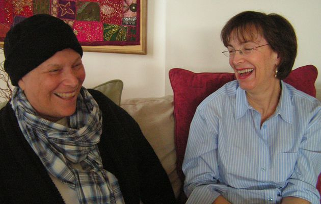 Diagnosis, Then a Pink Slip: Marla Gilson, above left, with friend Laura Katz Cutler, was fired from her job shortly after being diagnosed with leukemia.
