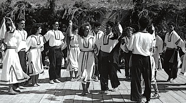 Tradition: The hora is performed by member of kibbutzim Ein Harod and Yagur in northern Israel during the early 1950s.