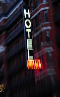 Neon Landmark: The Chelsea Hotel?s neon sign has long been a beacon for artists on Manhattan?s W. 23rd Street.