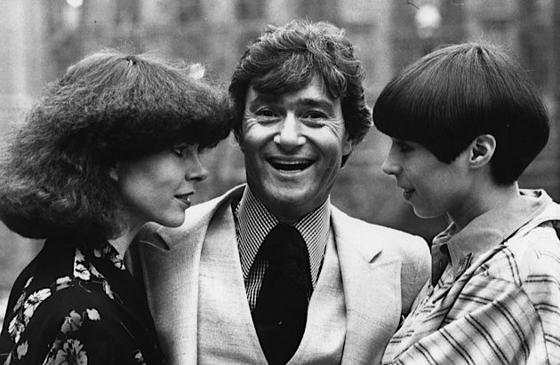 Hair Today: Vidal Sassoon, center, with two of his clients, in 1975.