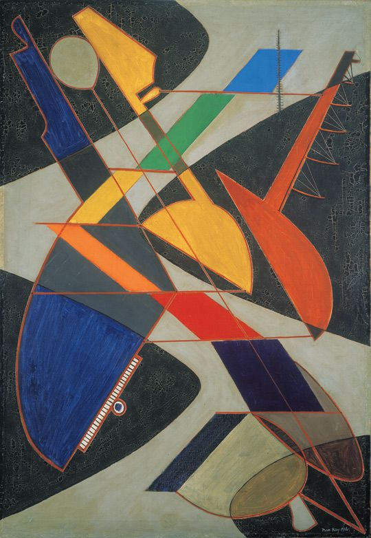 ?Symphony Orchestra? (Man Ray, 1916) oil on canvas. Albright Knox Art Gallery, Buffalo: George B. and Jenny R. Mathews Fund, 1970. © 2009 Man Ray Trust / Artists Rights Society (ARS), New York / ADAGP, Paris.