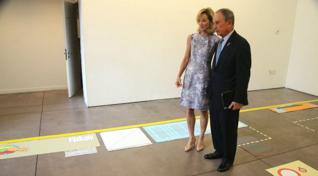 Neo-Tenements: New York City Mayor Michael Bloomberg stands with planning commissioner Amanda Burden in a 2D mockup of his proposed micro-apartments.