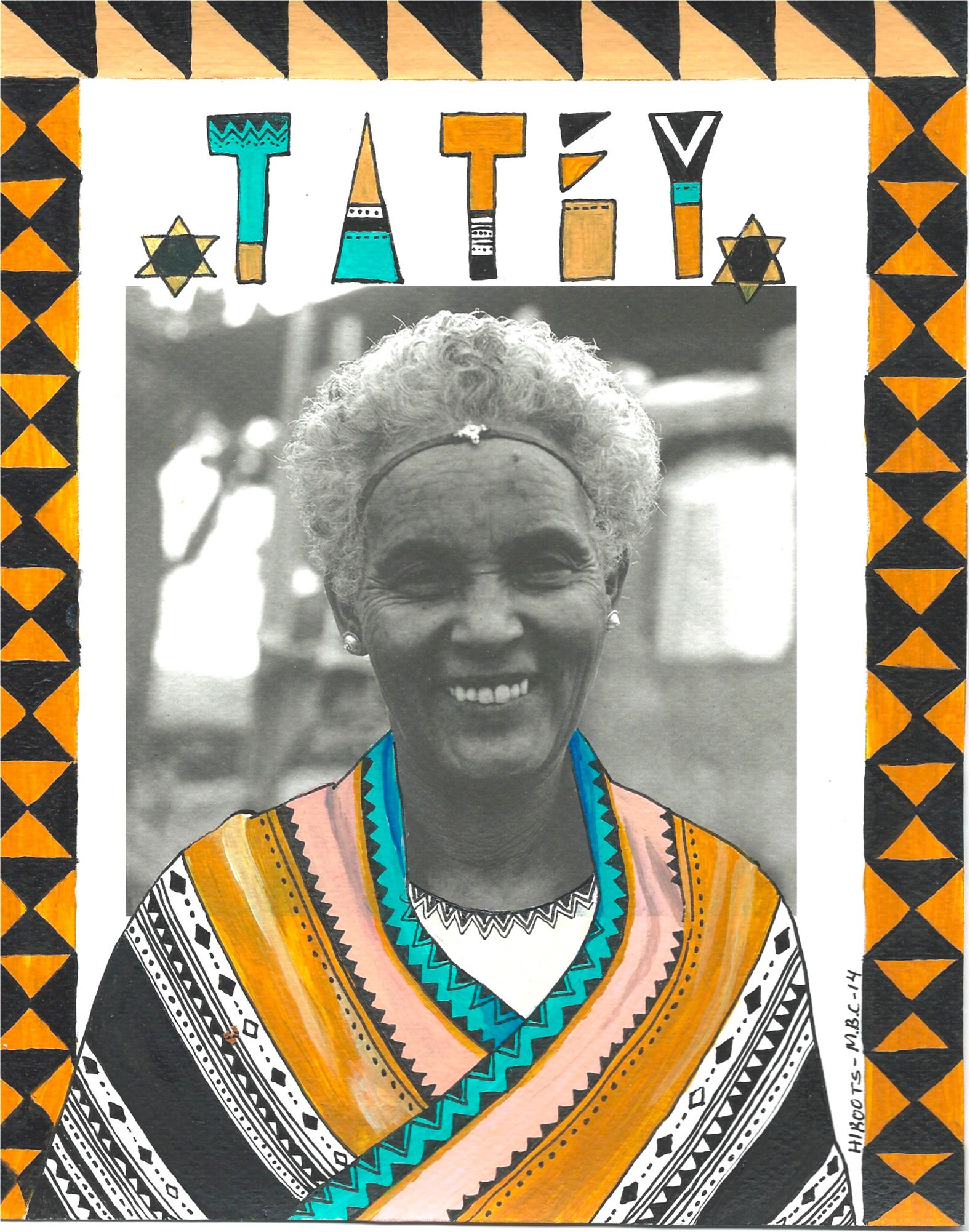 """Tatey"" (grandmother) by Hirut Yosef"