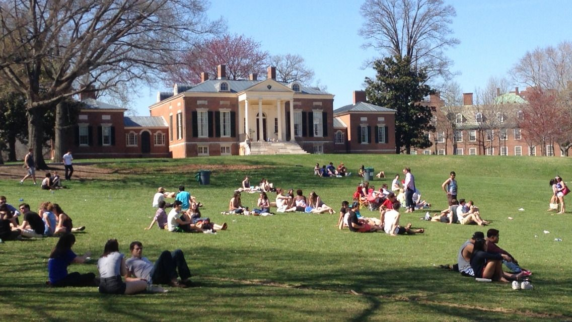 """""""The Beach"""" at Johns Hopkins University in Baltimore."""