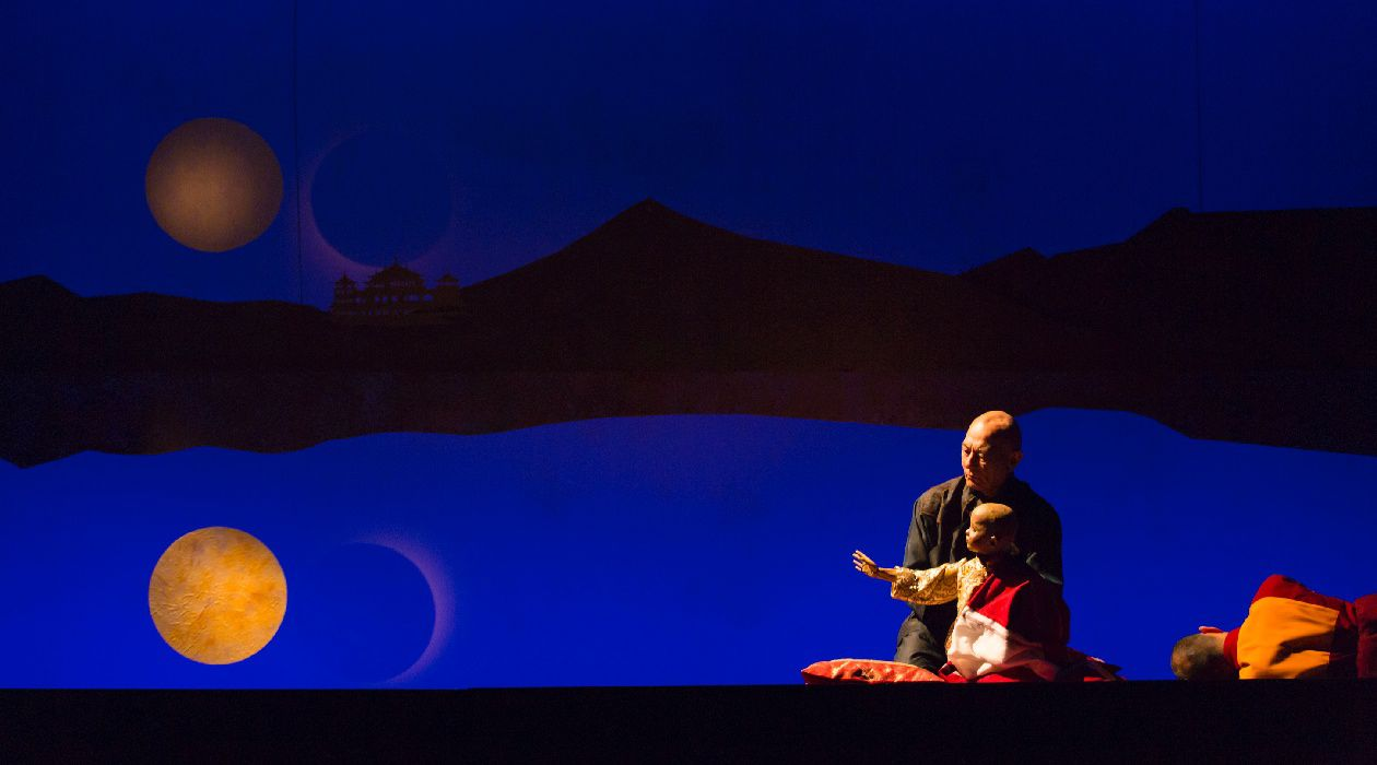 """The Child Is Father of the Man: A scene from Sarah Ruhl's """"The Oldest Boy"""" at Lincoln Center."""