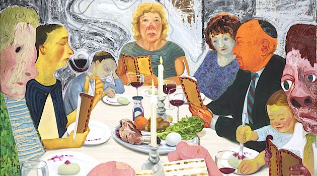 Festival Meal: 'Seder,' Nicole Eisenman's 2010 oil painting, is on display at the Jewish Museum.