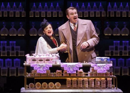 Patti LuPone playing cosmetic titan Helena Rubinstein and Douglas Sills as Harry Fleming, her business manager.
