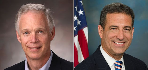 Ron Johnson (R) and Russ Feingold (D)