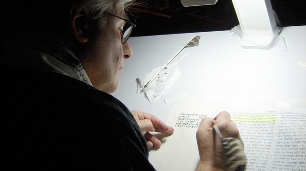 Wordsmith: Neil Yerman, 62, has trained some of the only female Torah scribes.