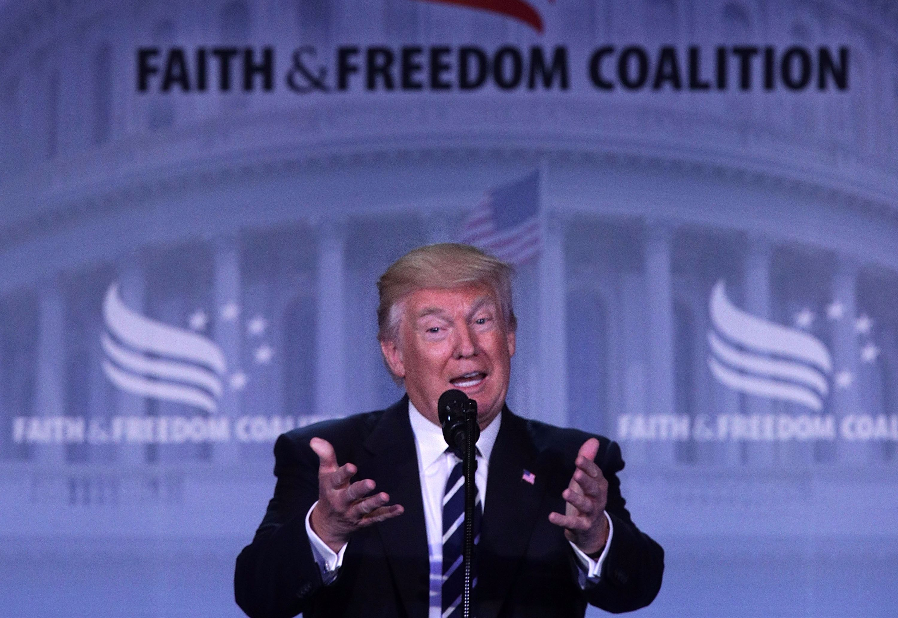 Donald Trump speaking at the Faith and Freedom Coalition, June 8, 2017