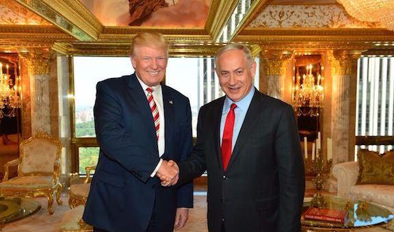 Donald Trump and Benjamin Netanyahu after their September 25 meeting in New York