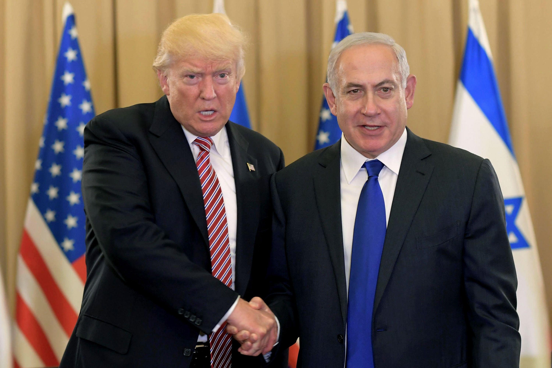 Resultado de imagem para trump e netanyahu