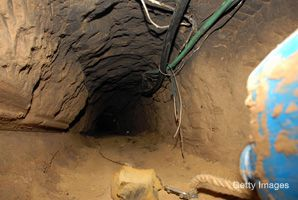 Underground: Tunnels have been found between Gaza and Egypt