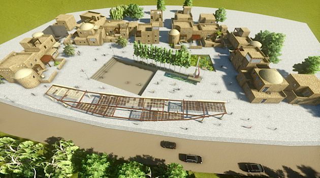 Still on the Drawing Board: Architect Shadi Habib Allah has drafted detailed plans for al-Lajun, a proposed town in Northern Israel for returning Palestinians.