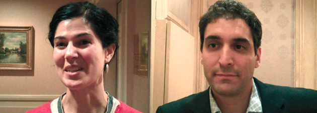Pick Me!: Louisa Shafia (left) and Saïd Sayrafiezadeh are two of the 196 writers who presented their books to the Jewish Book Network, which provides authors with a platform to promote their works.