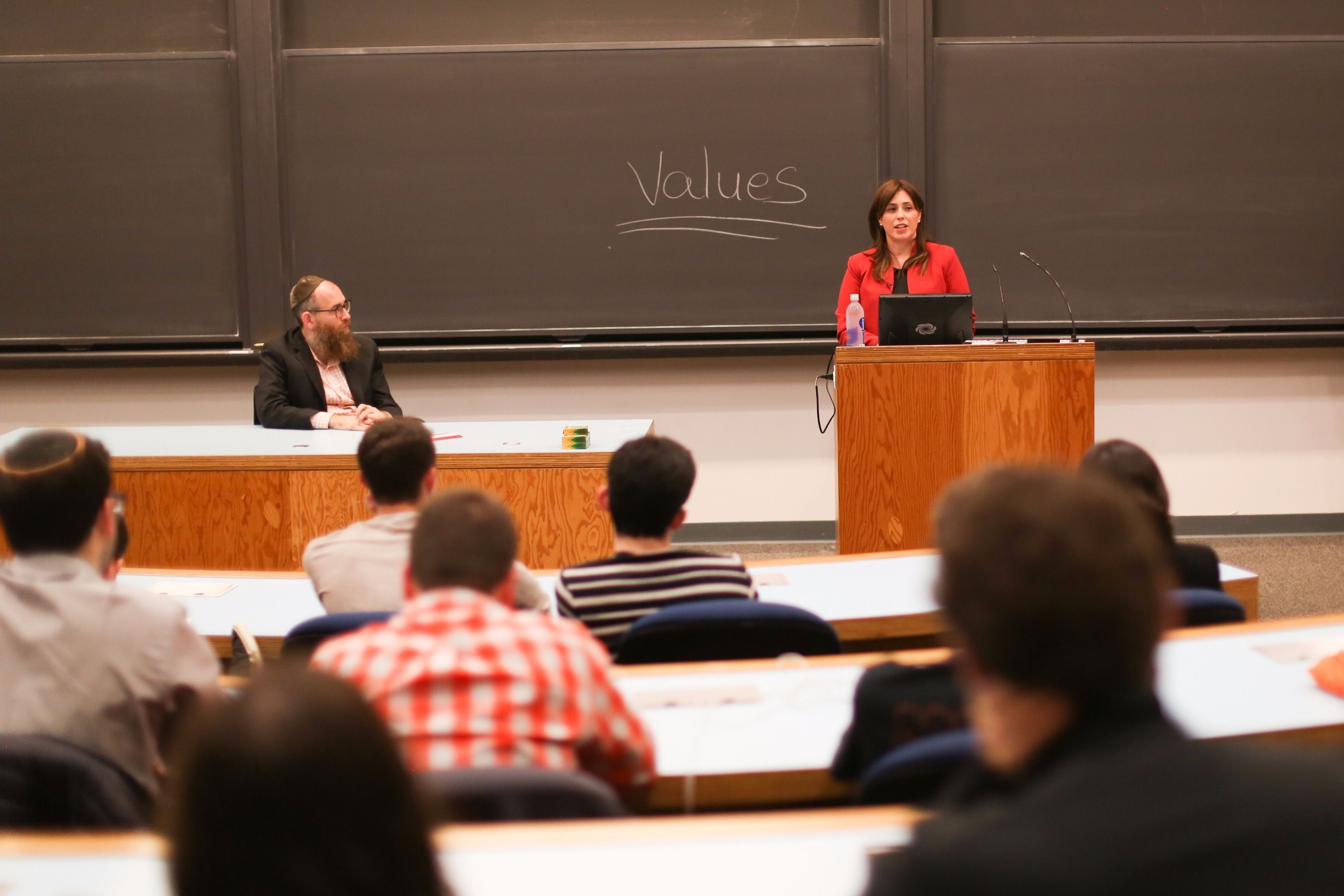 Israeli Deputy Foreign Minister Tzipi Hotovely speaks at an event sponsored by Chabad at Princeton University.