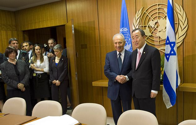 Global Warming: Israel?s president, Shimon Peres, met with United Nations Secretary-General Ban Ki-moon in New York last May.