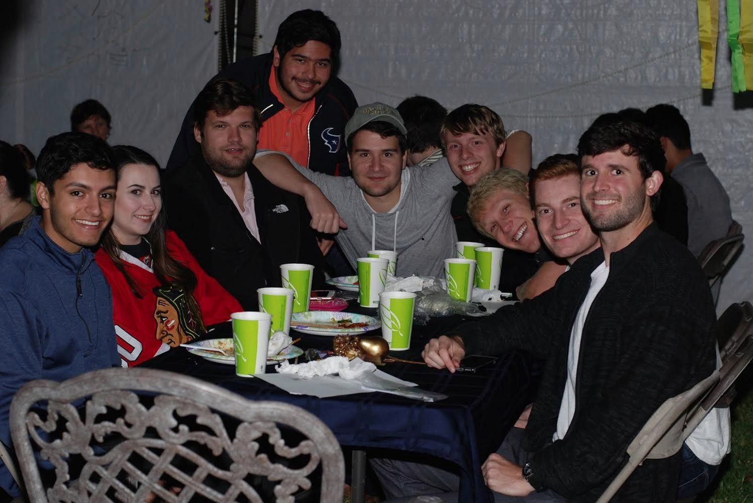 Jewish students at a Southern Methodist University Hillel event.