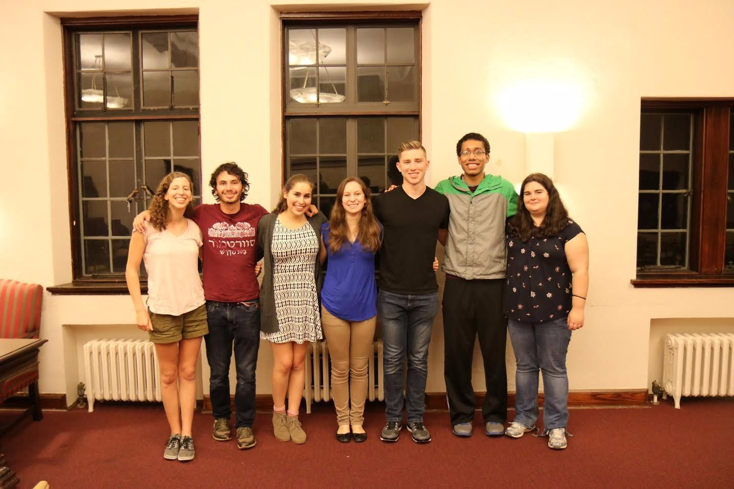 Members of the Swarthmore Kehilah, the Jewish student organization and Open Hillel at Swarthmore College.