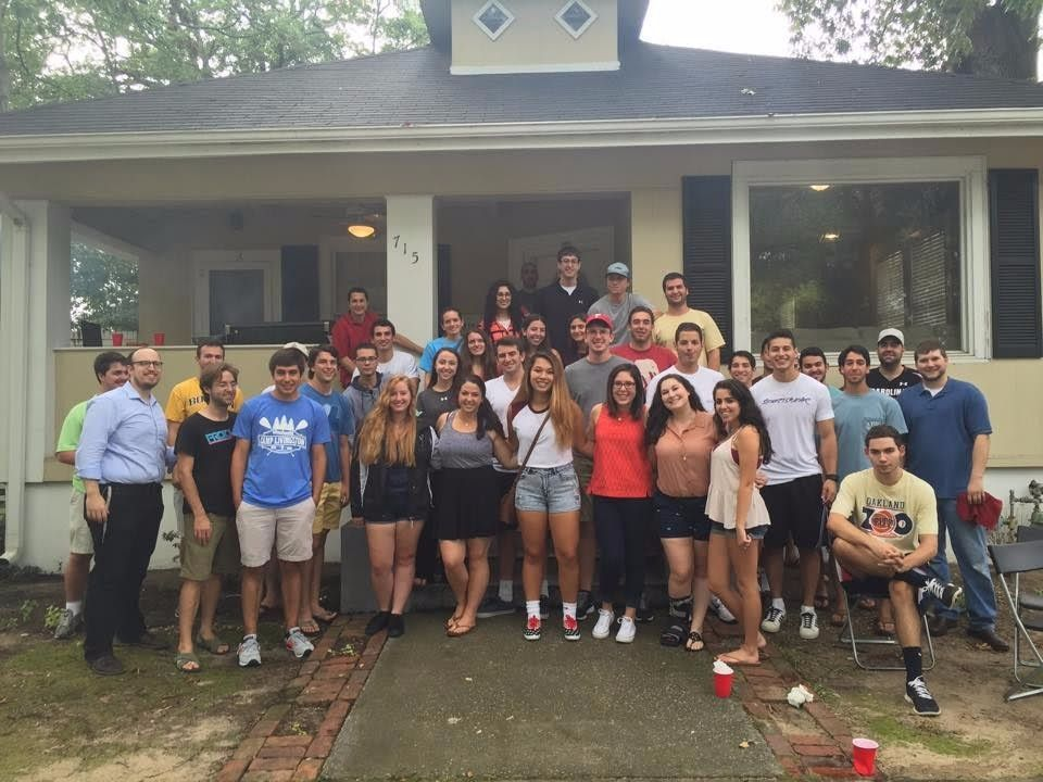 Jewish students at the Rohr Chabad Student Center at the University of South Carolina.