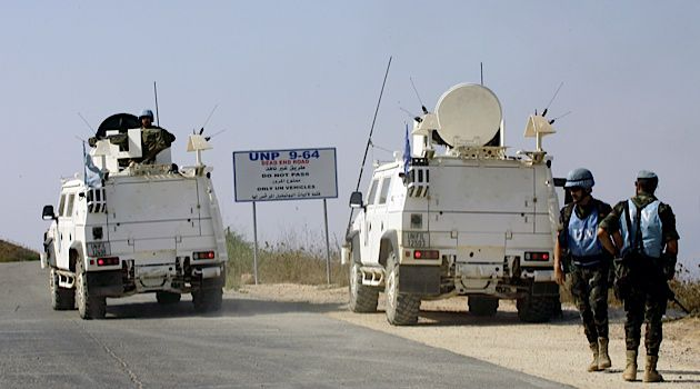 UN peacekeepers patrol the Israel-Lebanon border. Still attacks on Israeli soldiers who crossed in to Lebanon occurred.