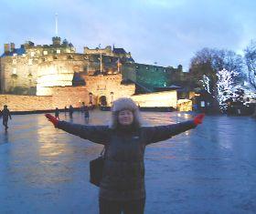 Visiting Edinburgh?s historic castle.