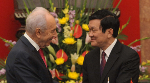 Former Israeli President Shimon Peres on a visit to Vietnam in 2011.