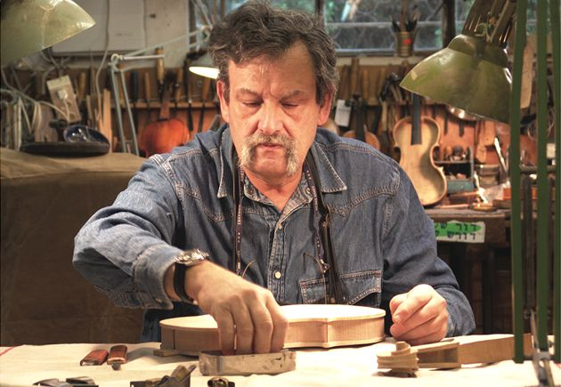 Master Luthier: Weinstein at work in his Tel Aviv atelier.