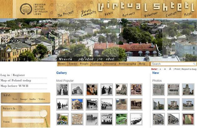 At Home on the Web: The Virtual Shtetl Web site is a project of the Museum of the History of Polish Jews. Click to view larger.
