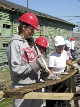 If You Build It: Students on a spring break service learning trip renovate the home of a low-income family in New Orleans.