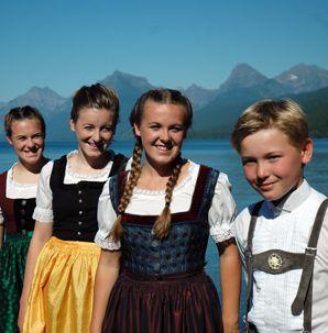 VON TRAPPS: From left: Amanda, Melanie, Sofia, Justin.