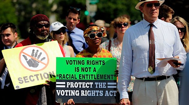 Voting Rights: Representatives of various groups including the NAACP gathered outside of the Supreme Court to hear the ruling on the Voting Rights Act challenge.