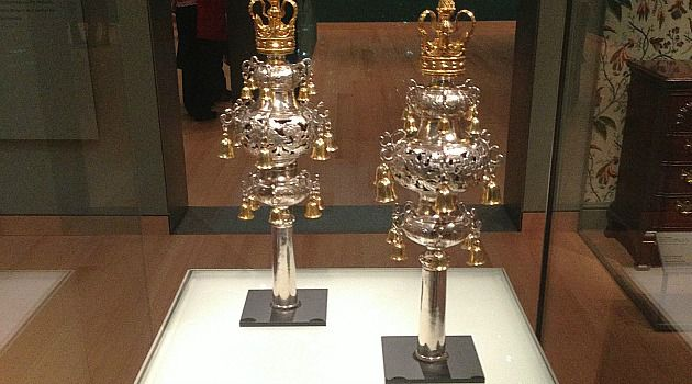 Shul Fight: The proposed sale of this 18th century pair of silver Torah finials, or decorative bells, has sparked an ugly feud between two of America?s oldest Jewish congregations.