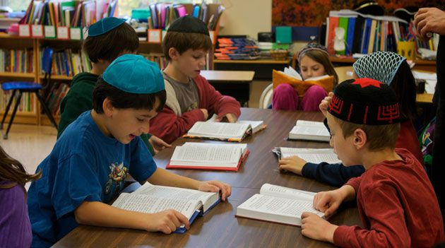 Daily Minyan : Third graders read from their prayer books at the Lander Grinspoon Academy in Northampton, Mass., where enrollment has increased, bucking the national trend.