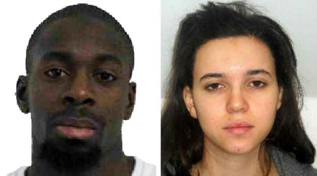 Mugshots of Amedy Coulibaly and Hayat Boumeddiene