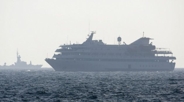 At Sea: The Mavi Marmara incident had become a bone of contention between Israel and Turkey after nine Turkish citizens were killed in an Israeli raid.