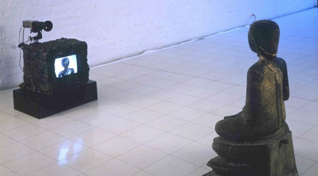 Generation of Watchers: Nam June Paik?s 1989 ?TV-Buddha,? currently on display as part of ?Beyond Belief? at the Contemporary Jewish Museum, cleverly anticipated the social media era.