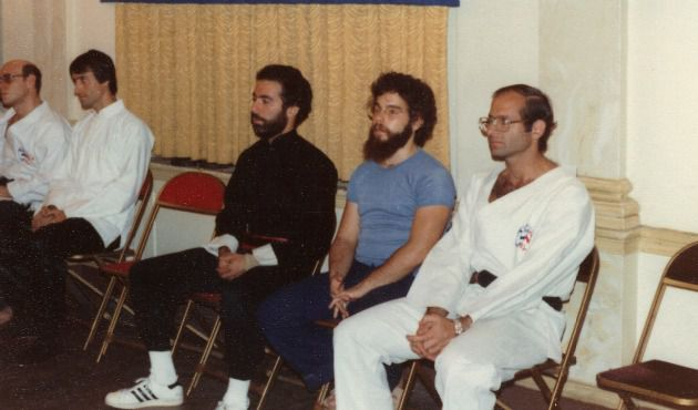 Accused : Richard Andron, right, taught tora dojo, a Jewish-inspired form of martial arts, at a Manhattan Jewish center in the 1970s and early 80s. Alleged victims say he molested them at sleepovers at his apartment.