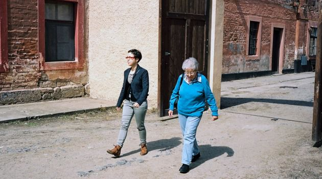 Back in Time: The author accompanies her grandmother on a visit to Theresienstadt.