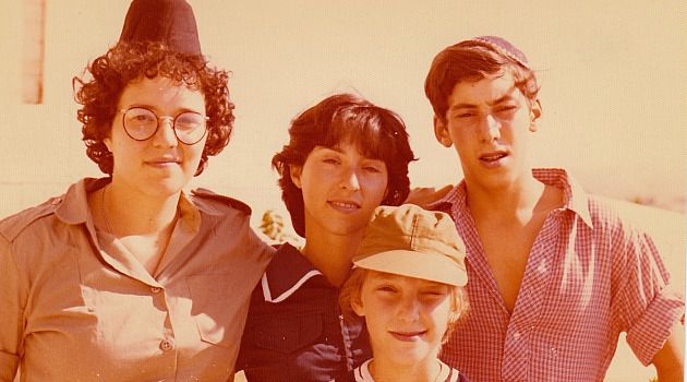 Young Idealist: Chana Pollack, left, as she prepared for service in Israeli army.