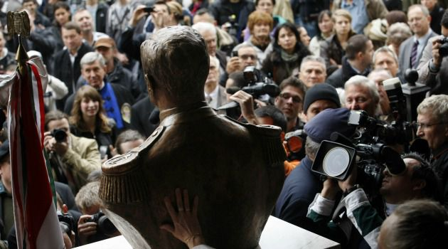 Budapest Bust: A bust of Hungary right-wing wartime leader Miklas Horthy is among the issues that has led Jews to distance themselves from commemorations of the 70th anniversary of the Nazi occupation.