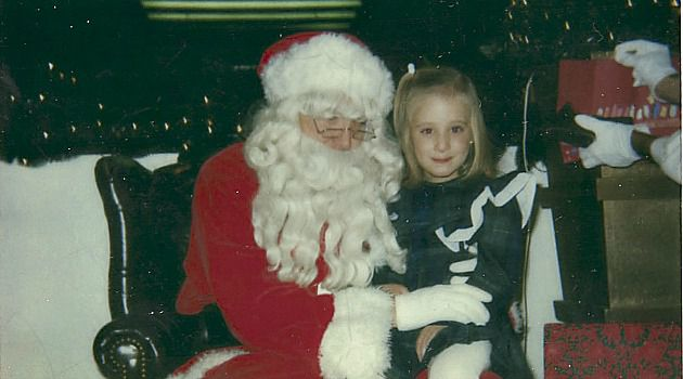 Joy to the World: Abigail Jones sits on Santa?s lap as a child. She explains how celebrating Christmas was a tradition that helped her Jewish ancestors fit in to American life.