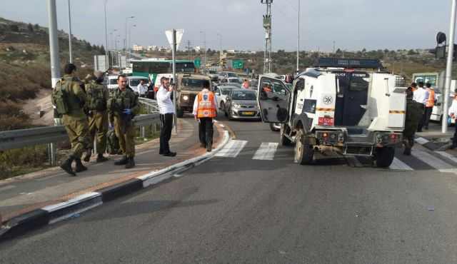 Authorities investigate after Palestinian man tosses acid on Israeli family at a West Bank checkpoint.