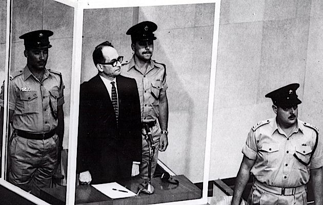 The Man in the Glass Booth: Adolf Eichmann faces the court during his 1961 trial in Jerusalem.