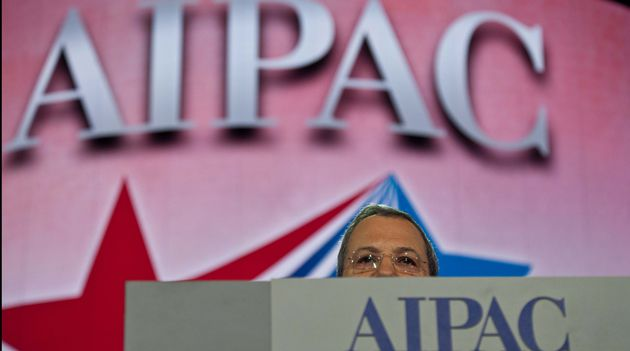 Heads Up: Israeli Defense Minister Ehud Barak addresses the American Israel Public Affairs Committee (AIPAC) annual policy conference in Washington on March 3, 2013.