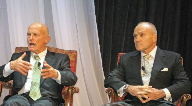 Conversation: Ami Ayalon (left) and Ray Kelly chat at the Rabin Medical Center Gala.